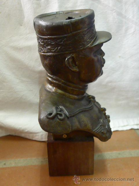 Militaria: Antiguo y gran busto d bronce de Mariscal Joffre, voluntarios catalanes en la Primera guerra mundial - Foto 3 - 40612548