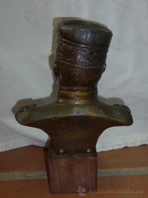 Militaria: Antiguo y gran busto d bronce de Mariscal Joffre, voluntarios catalanes en la Primera guerra mundial - Foto 4 - 40612548