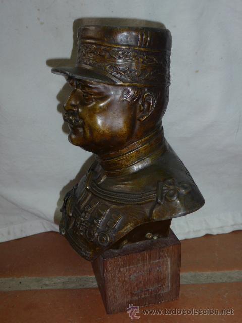 Militaria: Antiguo y gran busto d bronce de Mariscal Joffre, voluntarios catalanes en la Primera guerra mundial - Foto 5 - 40612548