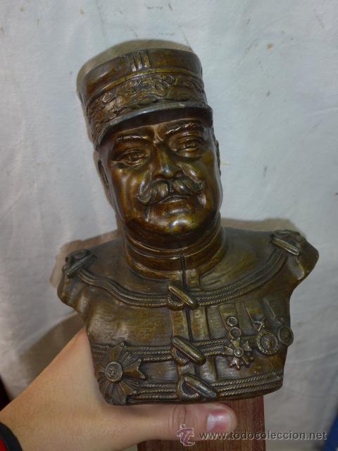 Militaria: Antiguo y gran busto d bronce de Mariscal Joffre, voluntarios catalanes en la Primera guerra mundial - Foto 9 - 40612548