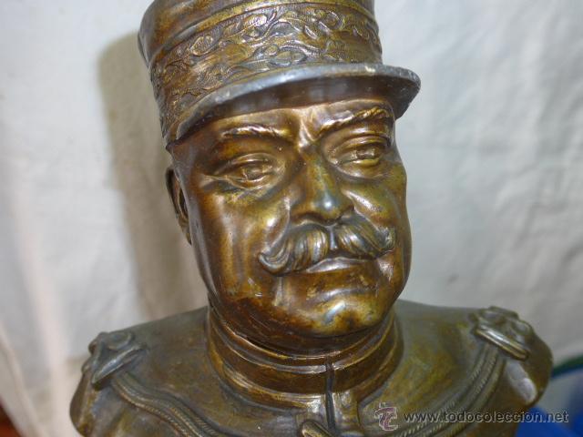 Militaria: Antiguo y gran busto d bronce de Mariscal Joffre, voluntarios catalanes en la Primera guerra mundial - Foto 10 - 40612548