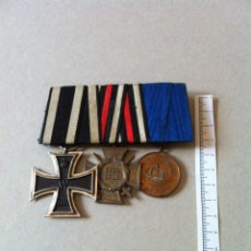 Militaria: PASADOR CON TRES CONDECORACIONES, 1ª GUERRA MUNDIAL, IMPERIOS CENTRALES.. Lote 46993820