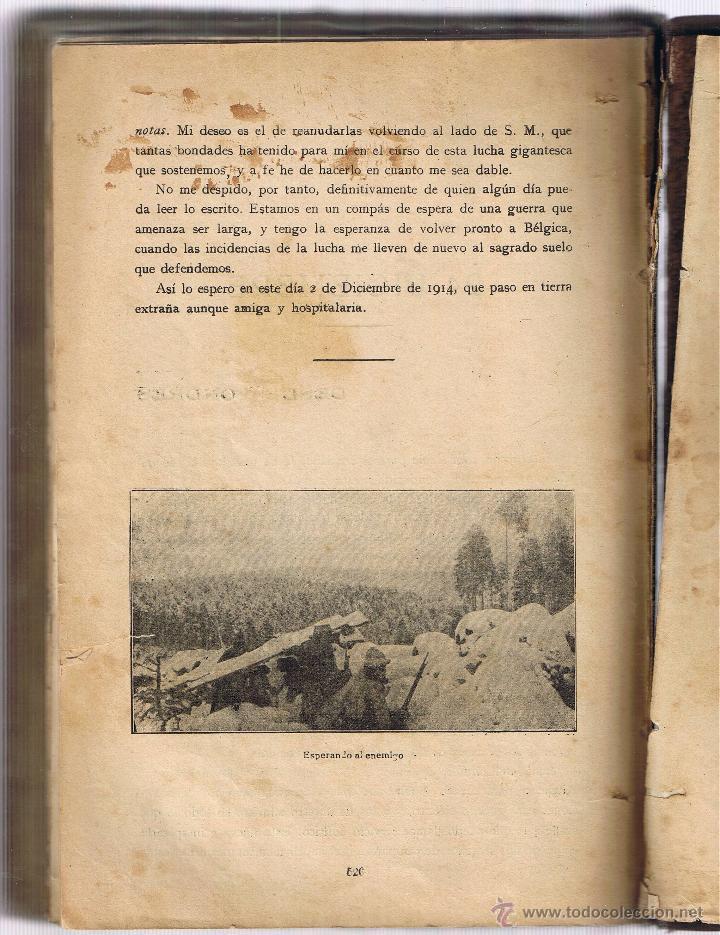 Militaria: 1914 LA GUERRA - NOTAS DE CAMPAÑA - ALBERTO SASSEL - Foto 4 - 50492805