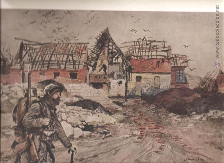 166 + 167. I GUERRA MUNDIAL: DESTRUCCION D,ABLAIN SAINT NAZAIRE + SOUCHEZ (Militar - I Guerra Mundial)