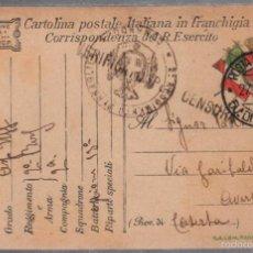 Militaria: TARJETA POSTAL. CENSURA MILITAR ITALIANA. 1º GUERRA MUNDIAL. 1917. Lote 56691531