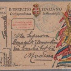Militaria: TARJETA POSTAL. CENSURA MILITAR ITALIANA. 1º GUERRA MUNDIAL. 1919. Lote 56691715