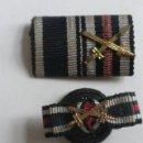 Militaria: BOTÓN CRUZ Y CINTA AÑOS 1914-1918 CON ESPADAS CRUZADAS ORIGINALES 100% 1ªGUERRA MUNDIAL. Lote 57699619