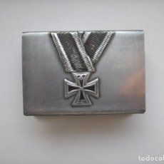Militaria: WWI THE GERMAN HOLDER/COVER ON MATCHBOX IRON CROSS. Lote 62737456