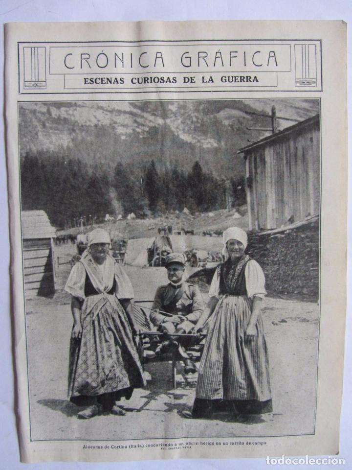 Militaria: Lote de 20 páginas de Mundo Grafico 1915 I Guerra Mundial. Fotografias. Muy Interesante. - Foto 3 - 64928739