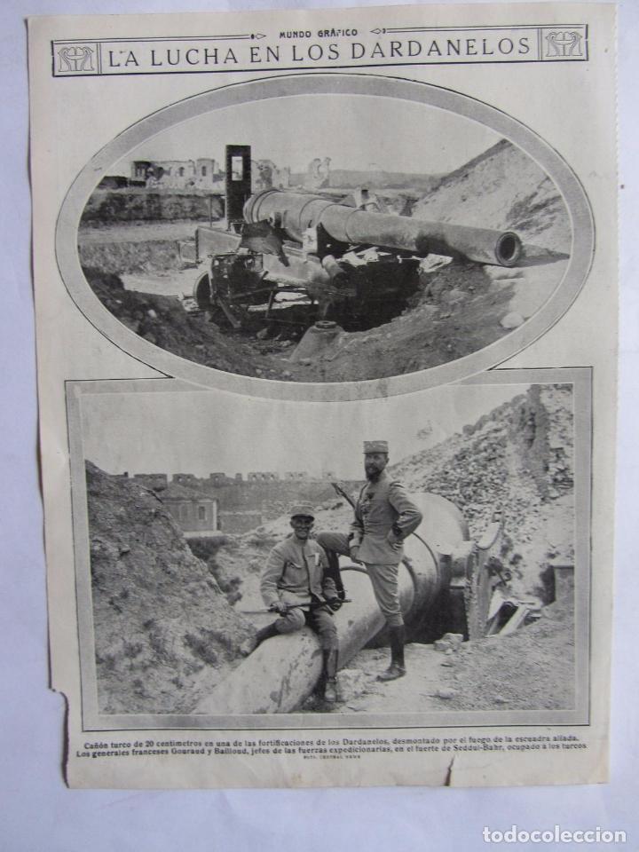 Militaria: Lote de 20 páginas de Mundo Grafico 1915 I Guerra Mundial. Fotografias. Muy Interesante. - Foto 4 - 64928739