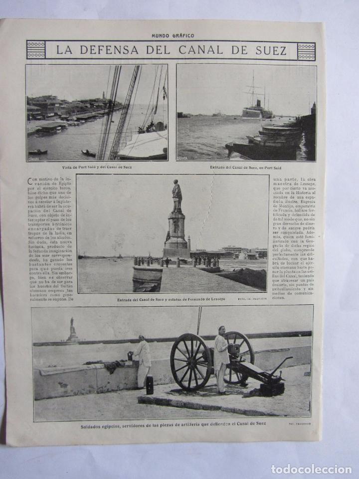 Militaria: Lote de 20 páginas de Mundo Grafico 1915 I Guerra Mundial. Fotografias. Muy Interesante. - Foto 7 - 64928739