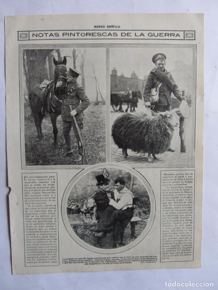 Militaria: Lote de 20 páginas de Mundo Grafico 1915 I Guerra Mundial. Fotografias. Muy Interesante. - Foto 8 - 64928739