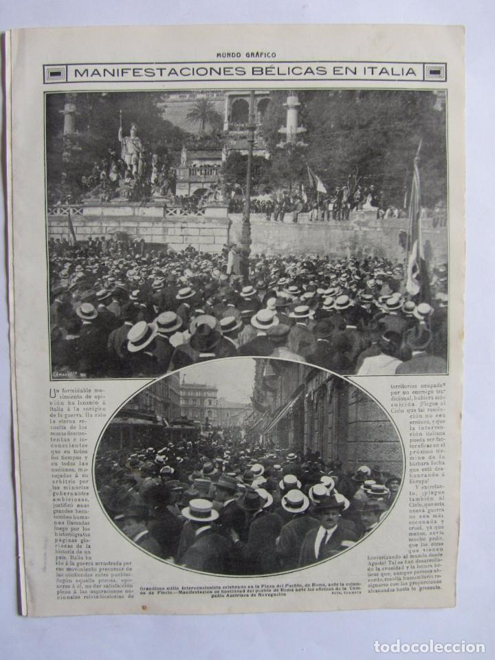 Militaria: Lote de 20 páginas de Mundo Grafico 1915 I Guerra Mundial. Fotografias. Muy Interesante. - Foto 10 - 64928739
