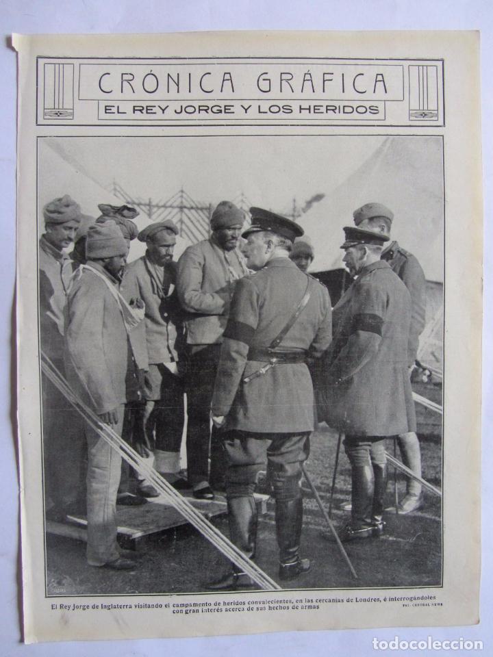 Militaria: Lote de 20 páginas de Mundo Grafico 1915 I Guerra Mundial. Fotografias. Muy Interesante. - Foto 12 - 64928739