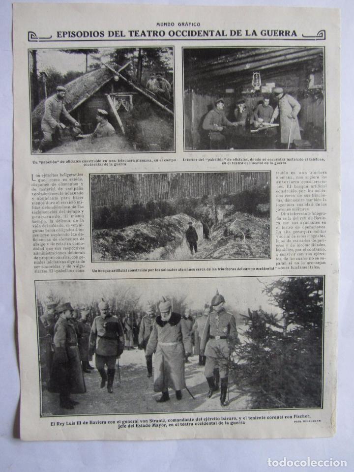 Militaria: Lote de 20 páginas de Mundo Grafico 1915 I Guerra Mundial. Fotografias. Muy Interesante. - Foto 13 - 64928739
