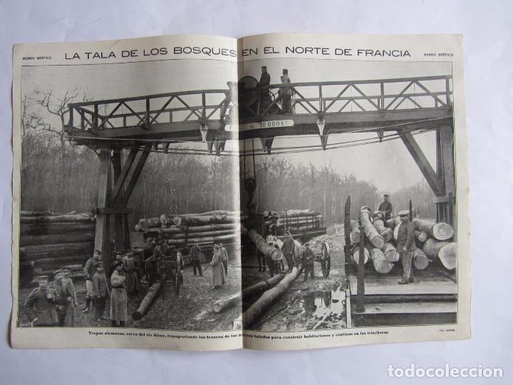 Militaria: Lote de 20 páginas de Mundo Grafico 1915 I Guerra Mundial. Fotografias. Muy Interesante. - Foto 14 - 64928739