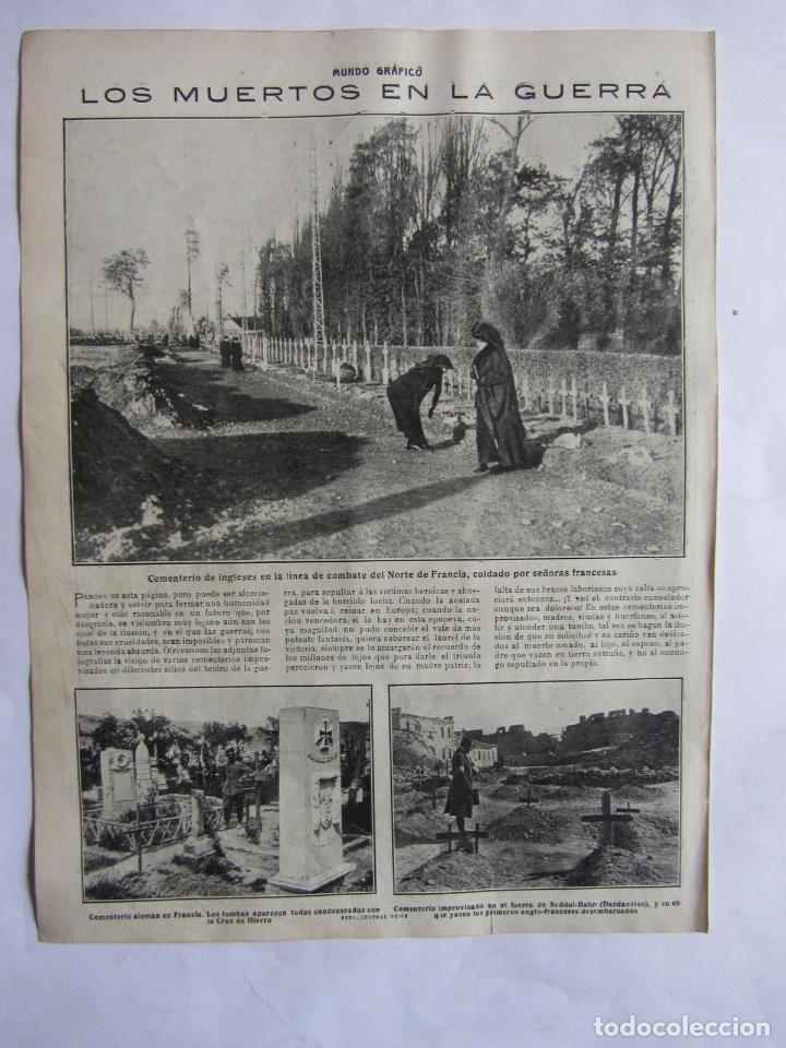 Militaria: Lote de 20 páginas de Mundo Grafico 1915 I Guerra Mundial. Fotografias. Muy Interesante. - Foto 15 - 64928739