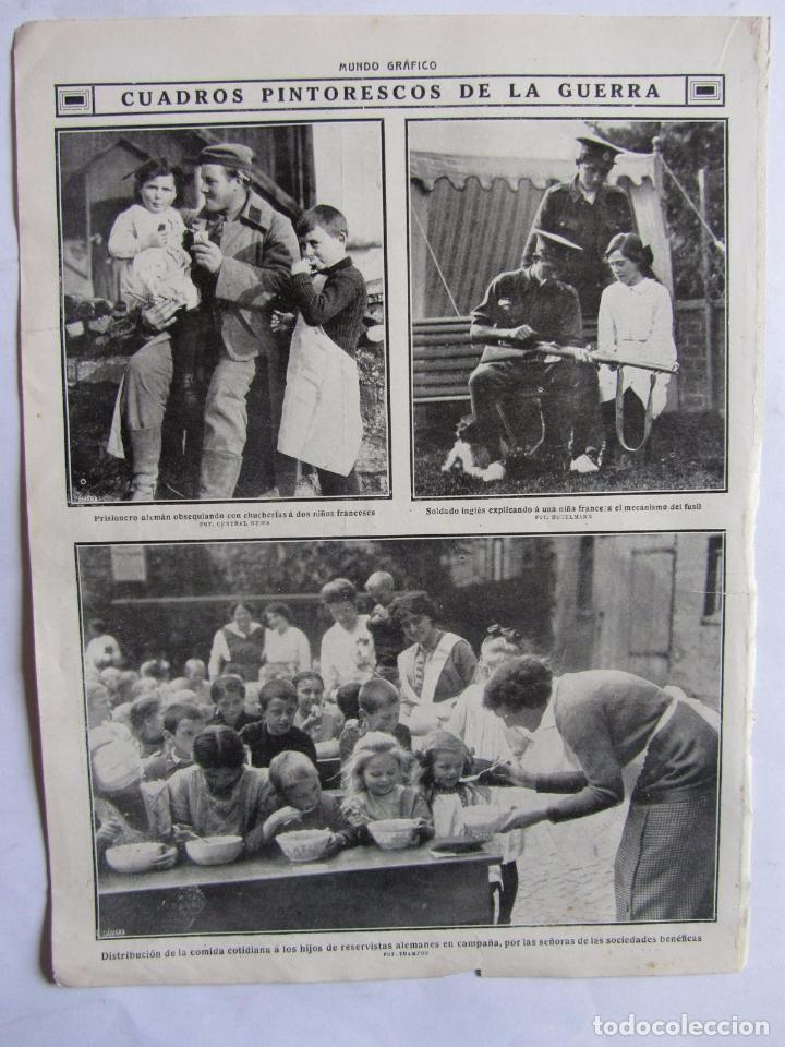 Militaria: Lote de 20 páginas de Mundo Grafico 1915 I Guerra Mundial. Fotografias. Muy Interesante. - Foto 17 - 64928739