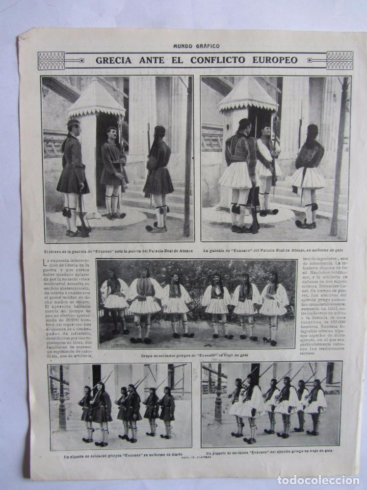 Militaria: Lote de 20 páginas de Mundo Grafico 1915 I Guerra Mundial. Fotografias. Muy Interesante. - Foto 18 - 64928739