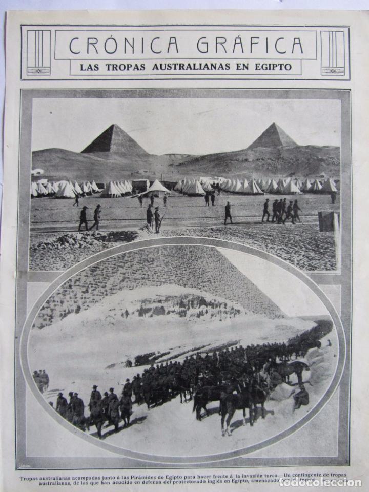 Militaria: Lote de 20 páginas de Mundo Grafico 1915 I Guerra Mundial. Fotografias. Muy Interesante. - Foto 20 - 64928739
