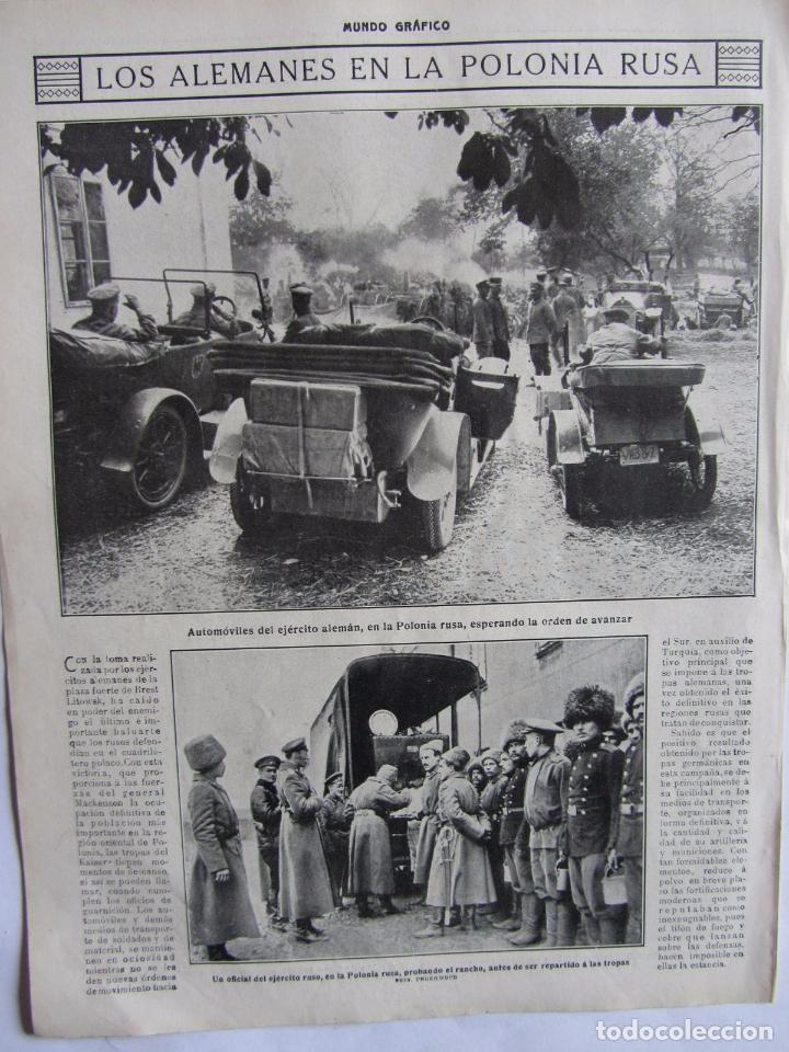 Militaria: Lote de 20 páginas de Mundo Grafico 1915 I Guerra Mundial. Fotografias. Muy Interesante. - Foto 21 - 64928739