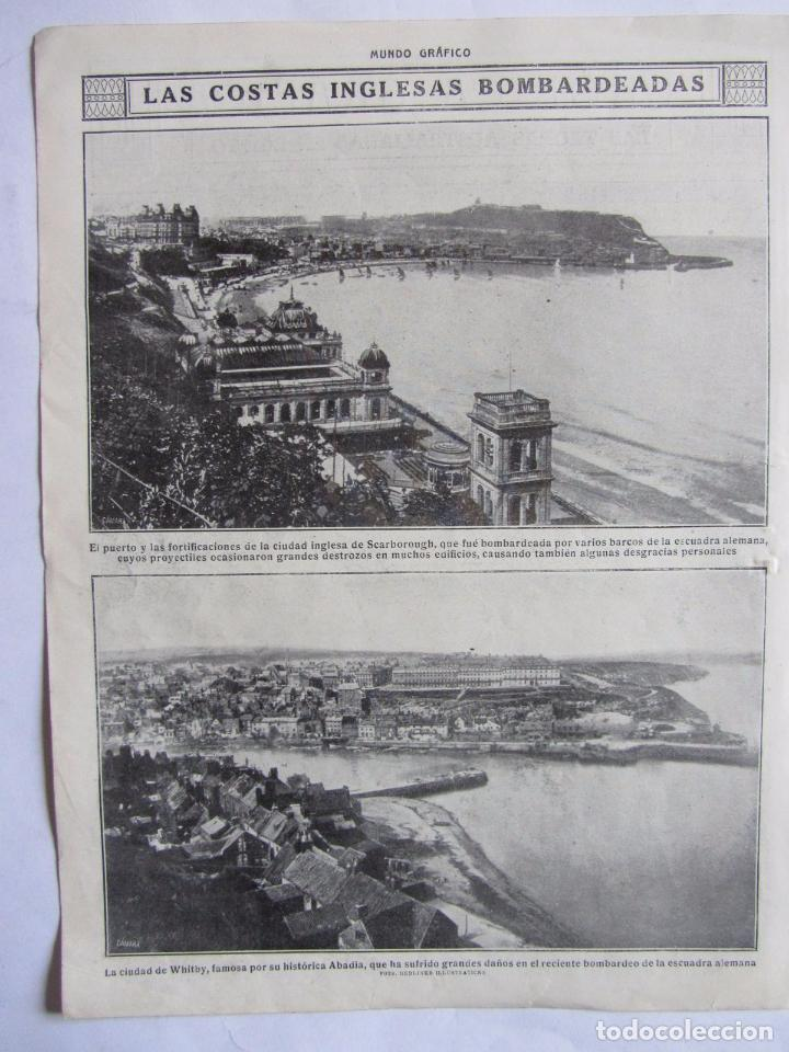 Militaria: Lote de 20 páginas de Mundo Grafico 1915 I Guerra Mundial. Fotografias. Muy Interesante. - Foto 22 - 64928739