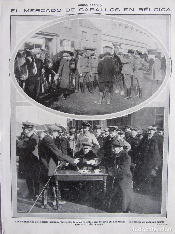 Militaria: Lote de 20 páginas de Mundo Grafico 1915 I Guerra Mundial. Fotografias. Muy Interesante. - Foto 23 - 64928739