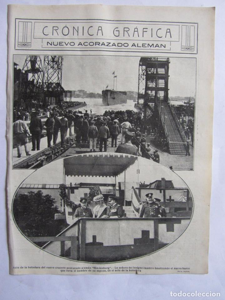 Militaria: Lote de 20 páginas de Mundo Grafico 1915 I Guerra Mundial. Fotografias. Muy Interesante. - Foto 24 - 64928739