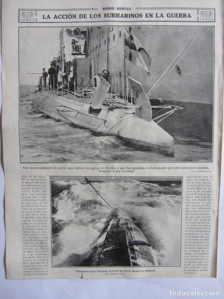 Militaria: Lote de 20 páginas de Mundo Grafico 1915 I Guerra Mundial. Fotografias. Muy Interesante. - Foto 25 - 64928739
