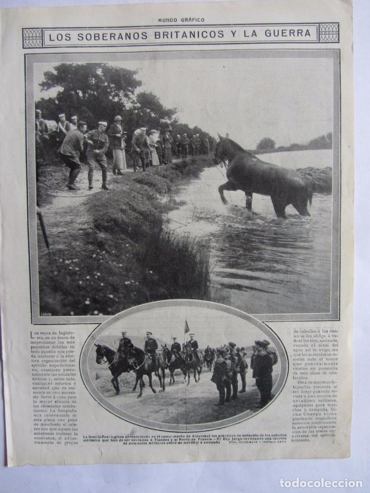 Militaria: Lote de 20 páginas de Mundo Grafico 1915 I Guerra Mundial. Fotografias. Muy Interesante. - Foto 26 - 64928739