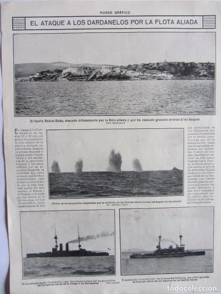 Militaria: Lote de 20 páginas de Mundo Grafico 1915 I Guerra Mundial. Fotografias. Muy Interesante. - Foto 27 - 64928739