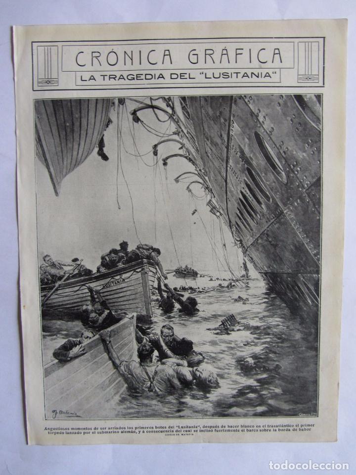 Militaria: Lote de 20 páginas de Mundo Grafico 1915 I Guerra Mundial. Fotografias. Muy Interesante. - Foto 28 - 64928739