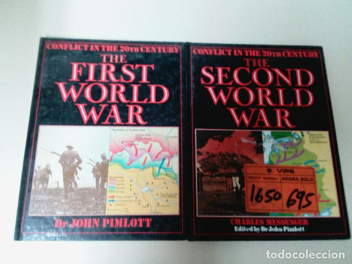 LOTE 2 TOMOS-THE FIRST WORLD WAR-THE SECOND WORLD WAR-JOHN PIMLOTT/CHARLES MESSENGER-TAPA DURA (Militar - I Guerra Mundial)