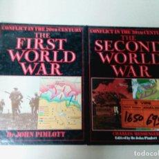 Militaria: LOTE 2 TOMOS-THE FIRST WORLD WAR-THE SECOND WORLD WAR-JOHN PIMLOTT/CHARLES MESSENGER-TAPA DURA. Lote 73186867