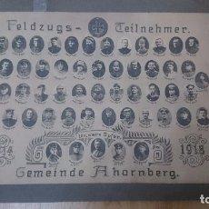 Militaria: ORIGINAL ORLA DE PARTICIPANTES MUNICIPIO ARCE DE LA MONTAÑA 1ª GUERRA M. 1914-1918-ALEMANIA. Lote 73478111