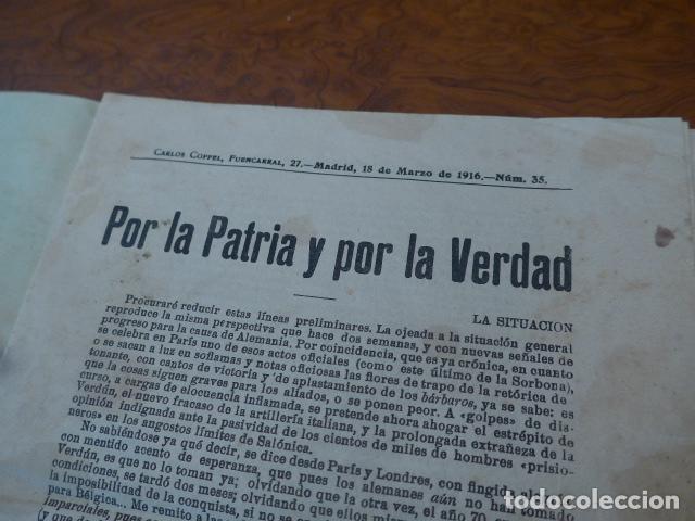 Militaria: * Antiguo librito por la patria y la verdad, original, I guerra mundial. ZX - Foto 2 - 86342944