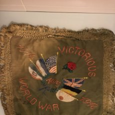 Militaria: ANTIGUA TELA BORDADA - PRIMERA GUERRA MUNDIAL - VICTORIOUS ALLIES WORLD WAR 1914-1918. Lote 95907683