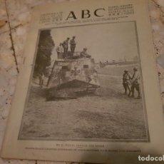 Militaria: PERIÓDICO ABC JULIO DE 1918 TANQUE ALEMÁN. Lote 98659691
