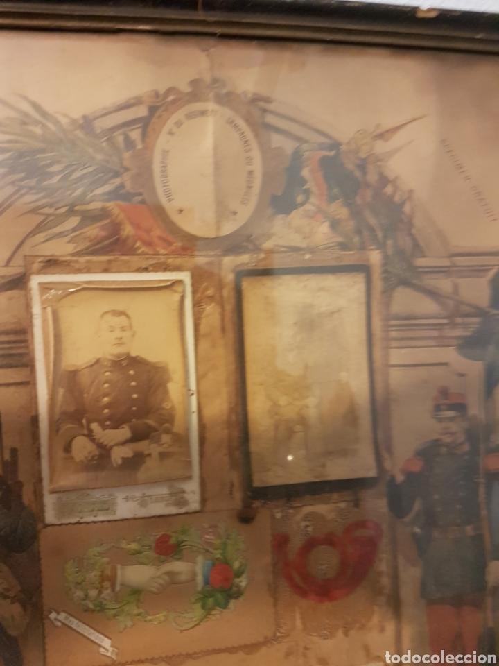 Militaria: Antiguo cuadro honor soldado primera guerra mundial con fotos y parche - Foto 2 - 101003879