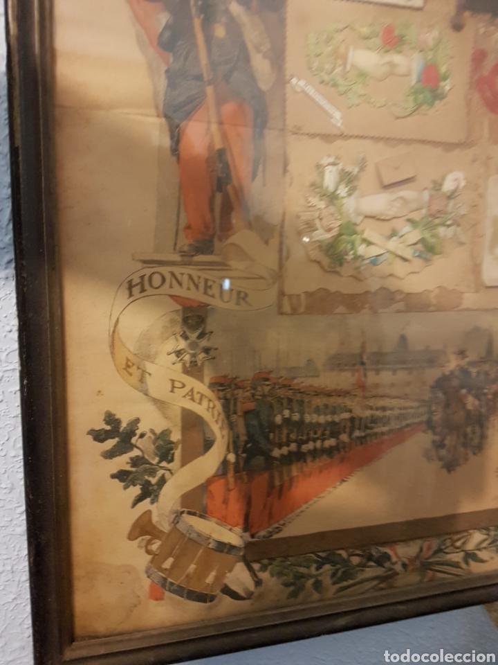 Militaria: Antiguo cuadro honor soldado primera guerra mundial con fotos y parche - Foto 4 - 101003879