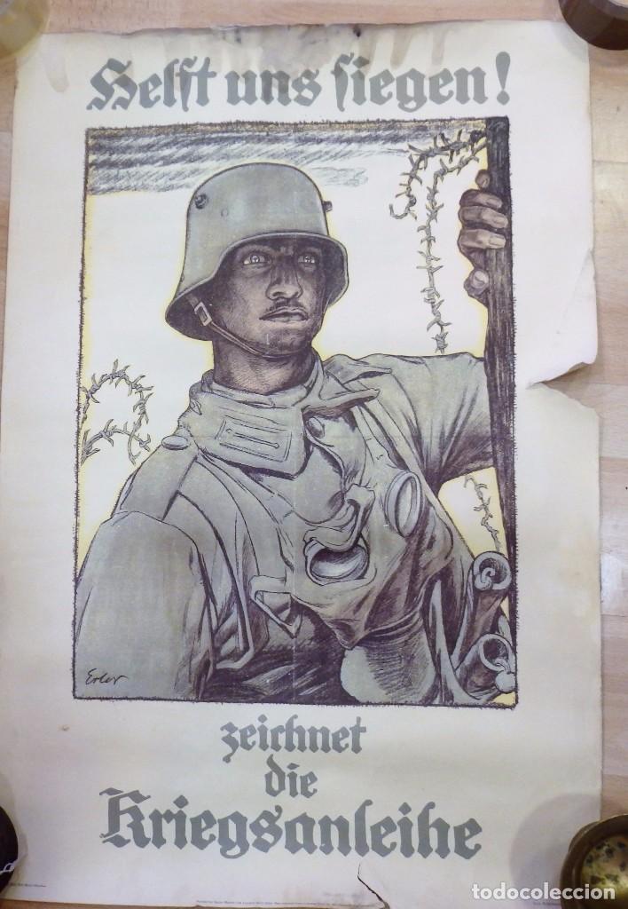 Militaria: CARTEL DE CARTÓN RARO Original 1917 WWI, Heft uns Fiegen Zeichnet die Kriegsanleihe!,por Fritz Erler - Foto 2 - 102344303