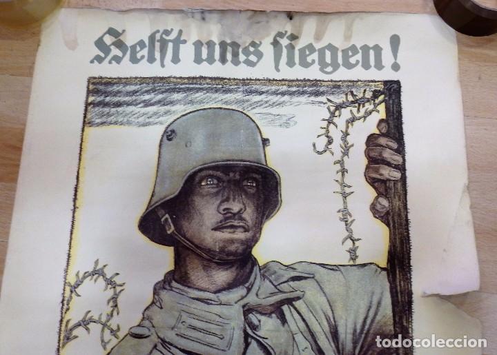 Militaria: CARTEL DE CARTÓN RARO Original 1917 WWI, Heft uns Fiegen Zeichnet die Kriegsanleihe!,por Fritz Erler - Foto 3 - 102344303