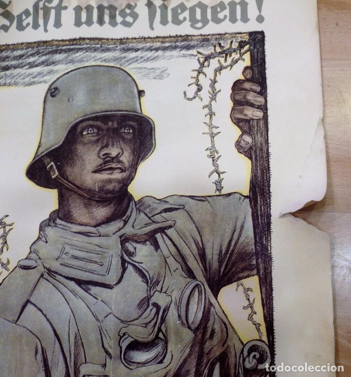 Militaria: CARTEL DE CARTÓN RARO Original 1917 WWI, Heft uns Fiegen Zeichnet die Kriegsanleihe!,por Fritz Erler - Foto 4 - 102344303
