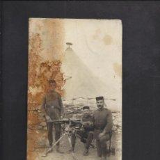 Militaria: POSTAL FOTOGRÁFICA. SOLDADOS CON AMETRALLADORA. I GUERRA MUNDIAL.. Lote 104386847
