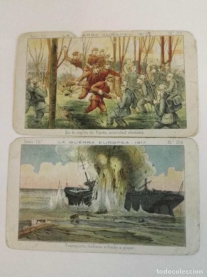 2 CROMOS DE LA GURRA EUROPEA DE CHOCOLATE AMATLLER SERIE 13. PRIMERA GUERRA MUNDIAL (Militar - I Guerra Mundial)