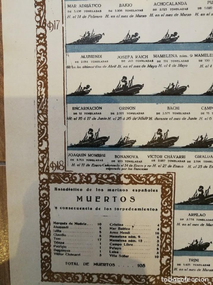 Militaria: CARTEL 1918. LAS RELACIONES HISPANO-ALEMANAS DURANTE LA I PRIMERA GUERRA MUNDIAL. 80 x 56 CM - Foto 4 - 129429815
