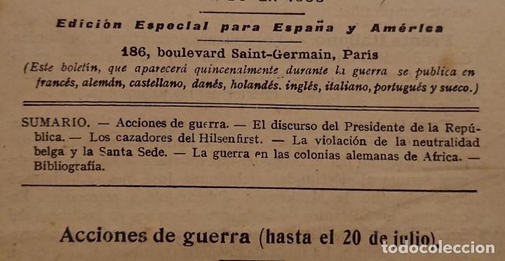 Militaria: BOLETÍN DE LA ALIANZA FRANCESA 1915, Asociación nacional de propaganda de la lengua francesa - Foto 3 - 121189567