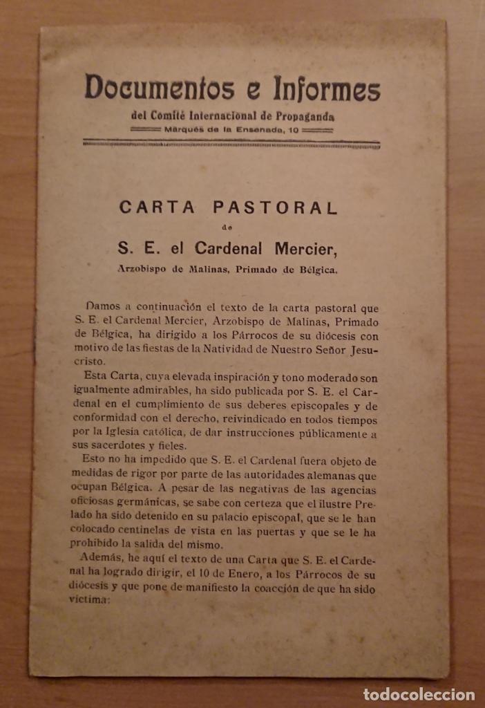 PRIMERA GUERRA MUNDIAL,COMITÉ INTERNACIONAL DE PROPAGANDA DEL INSTITUTO FRANCÉS 1915 (Militar - I Guerra Mundial)