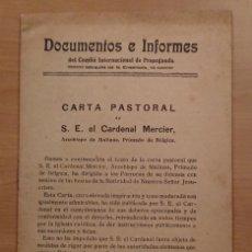 Militaria: PRIMERA GUERRA MUNDIAL,COMITÉ INTERNACIONAL DE PROPAGANDA DEL INSTITUTO FRANCÉS 1915. Lote 121190107