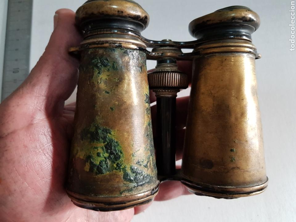 Militaria: Prismáticos Binoculares antiguos de bronce 1 guerra mundial - Foto 6 - 122811464